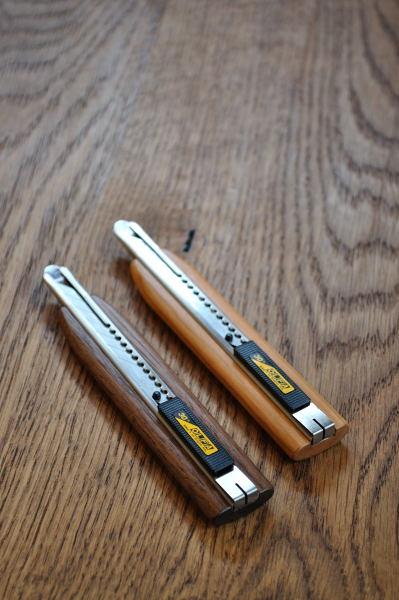 木のカッターナイフ
