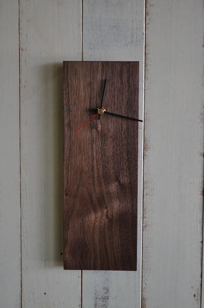 ウォルナットの時計