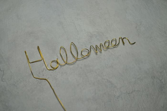 真鍮線のHalloween